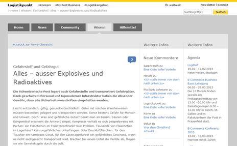 Printscreen Website Logistikpunkt