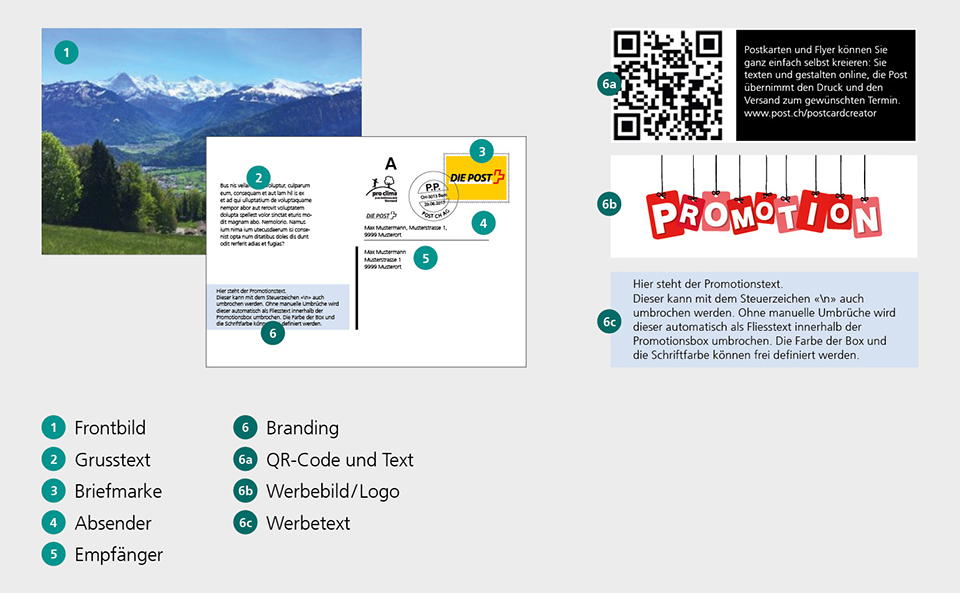 Digitale postkarte post ch