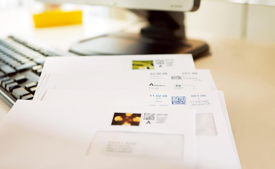 Briefe Frankieren : Sendung frankieren die post