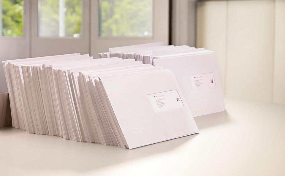 Briefe Kuvertieren Und Versenden : Vorankündigung briefpostsendungen die post