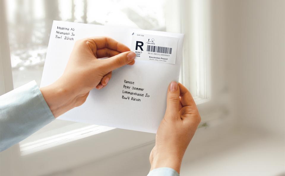Eingeschriebene Briefe Absender : Einschreiben prepaid die post